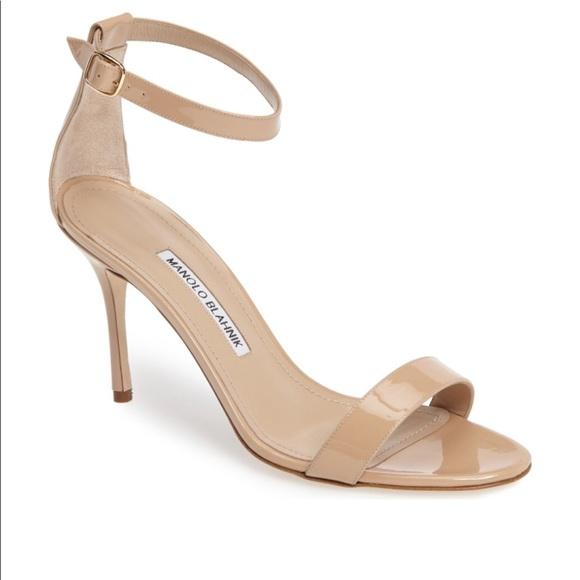 289222dd95abe [Manolo Blahnik] CHAOS Ankle Strap Sandal Nude. M_5b1c2883aa877087056088cf